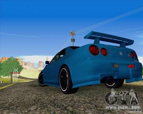 Nissan Skyline R34 Z-Tune V3 for GTA San Andreas left view