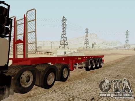 MAN TGX 8 x 4 trailer for GTA San Andreas back left view