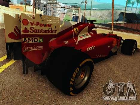 Ferrari F2012 for GTA San Andreas right view