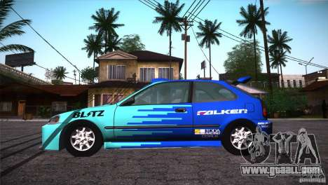 Honda Civic Tuneable for GTA San Andreas engine