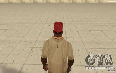 Maryshuana red bandana for GTA San Andreas third screenshot