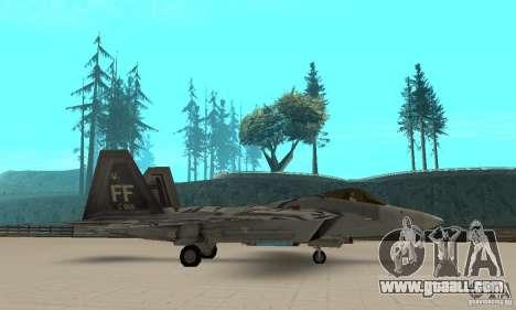 F-22 Starscream for GTA San Andreas left view