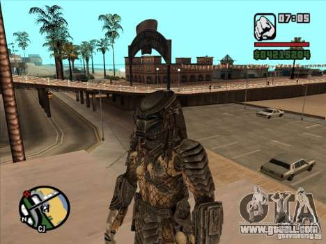 Predator on the replacement armejca for GTA San Andreas second screenshot