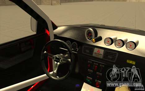 Mitsubishi Lancer Evo IX DiRT2 for GTA San Andreas side view