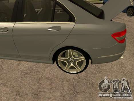 Mercedes-Benz C63 AMG for GTA San Andreas inner view