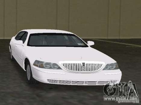 Lincoln Town Car for GTA Vice City back left view