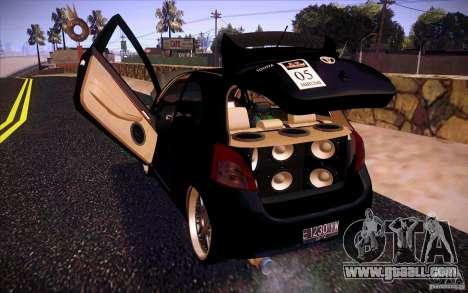 Toyota Yaris for GTA San Andreas inner view