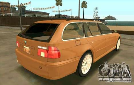BMW 525 Touring V2 for GTA San Andreas back left view
