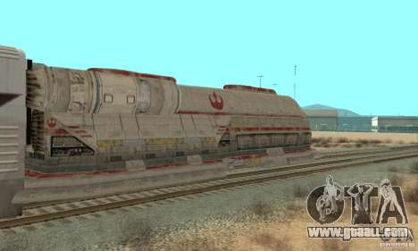 A good train, Star Wars for GTA San Andreas back left view