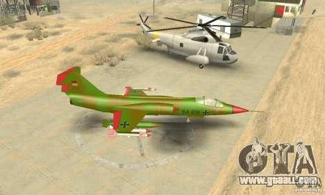 F-104 Starfighter Super (green) for GTA San Andreas