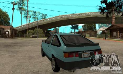 Toyota Corolla GT-S - Stock for GTA San Andreas back left view