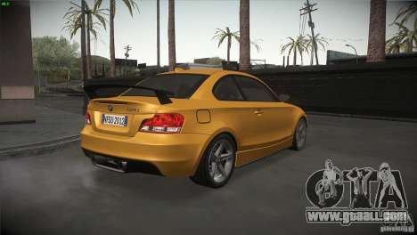 BMW 135i Coupe Road Edition for GTA San Andreas right view