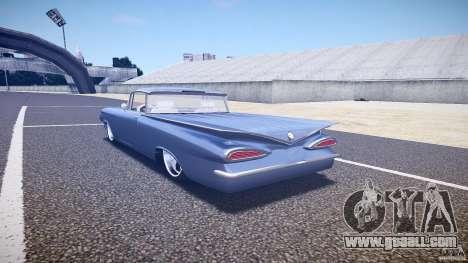 Chevrolet El Camino Custom 1959 for GTA 4 back left view