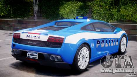 Lamborghini Gallardo LP560-4 Polizia for GTA 4 interior
