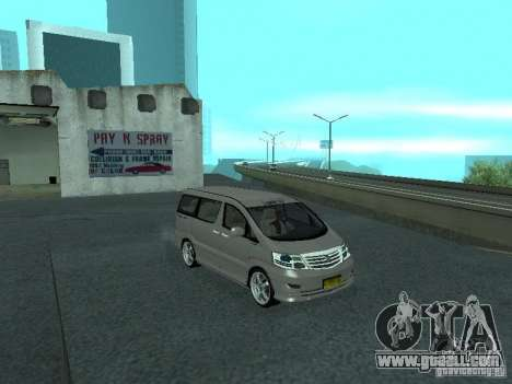 Toyota Alphard G Premium Taxi indonesia for GTA San Andreas right view