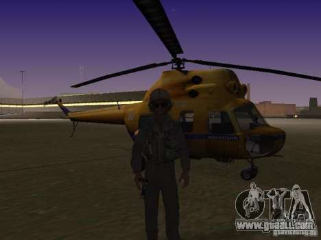 MI-2 Police for GTA San Andreas back left view