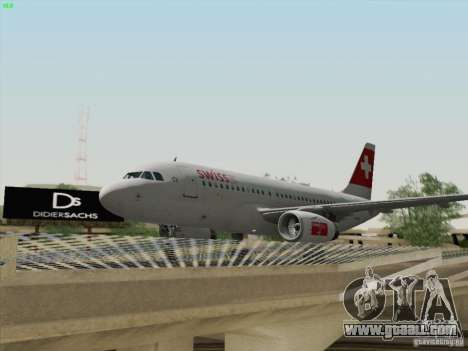 Airbus A319-112 Swiss International Air Lines for GTA San Andreas