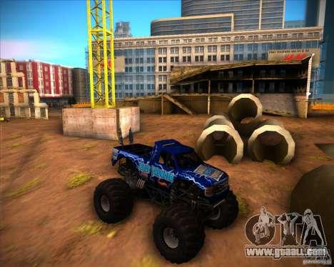 Monster Truck Blue Thunder for GTA San Andreas