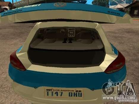 Volkswagen Scirocco German Police for GTA San Andreas back view