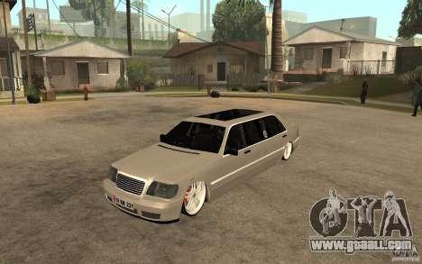 Mercedes-Benz S600 V12 W140 1998 VIP for GTA San Andreas