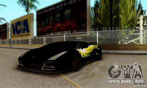 Lamborghini Gallardo for GTA San Andreas side view