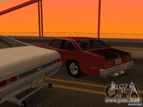 Chevrolet Nova Chucky for GTA San Andreas upper view