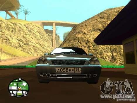 LADA Priora 2172 for GTA San Andreas inner view