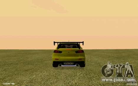 Mitsubishi Lancer Evolution Drift for GTA San Andreas left view