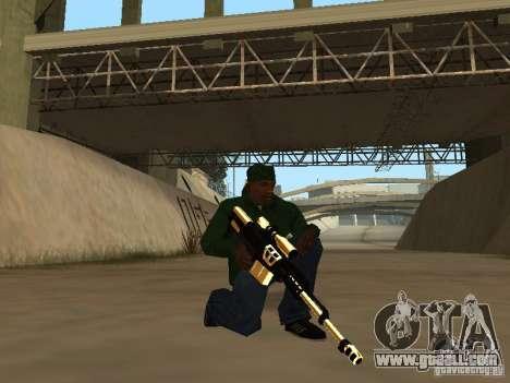 Pak Golden weapons for GTA San Andreas second screenshot