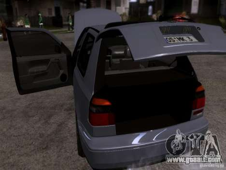 Volkswagen Golf 3 VR6 for GTA San Andreas inner view