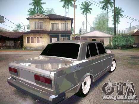 VAZ 2107 Criminal for GTA San Andreas back left view