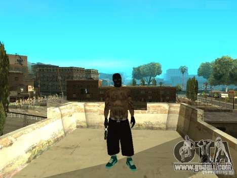 Varrios Los Aztecas Gang Skins for GTA San Andreas second screenshot