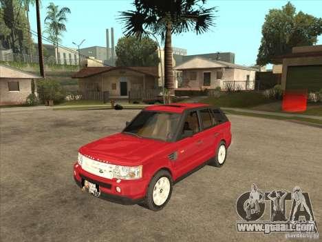 Range Rover Sport 2007 for GTA San Andreas