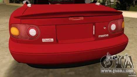 Mazda MX-5 for GTA Vice City back view