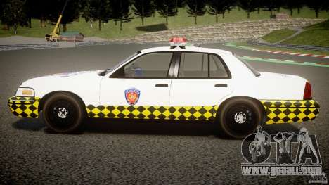 Ford Crown Victoria Karachi Traffic Police for GTA 4 left view