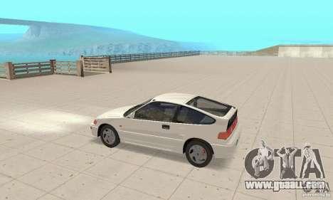 HONDA CRX II 1989-92 for GTA San Andreas back left view