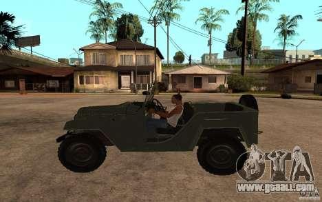 GAZ 67 b for GTA San Andreas left view