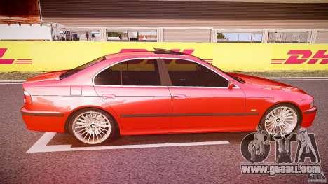 BMW 530I E39 stock chrome wheels for GTA 4 inner view