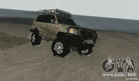 Toyota Land Cruiser 100 Off Road for GTA San Andreas right view
