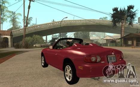 Mazda MX5 - Stock for GTA San Andreas back left view