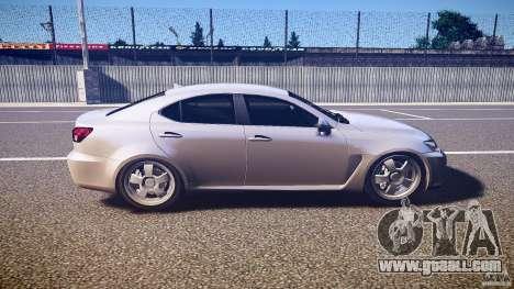 Lexus IS F for GTA 4 side view