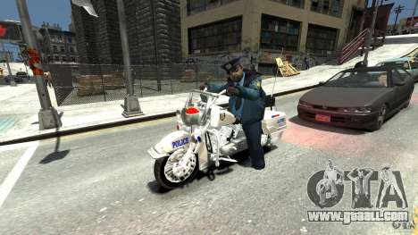 Police Bike for GTA 4 back view