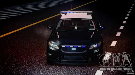 Ford Taurus Police Interceptor 2011 [ELS] for GTA 4 bottom view