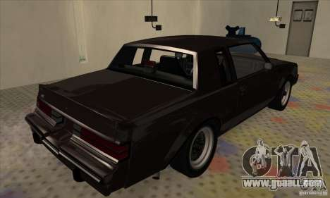 Buick Regal GNX 1987 for GTA San Andreas back left view