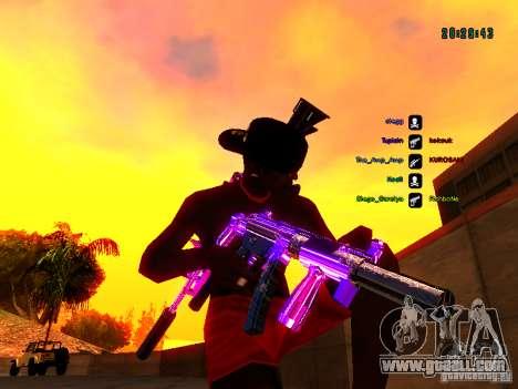 Purple chrome on weapons for GTA San Andreas sixth screenshot