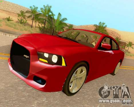 Dodge Charger SRT8 2012 for GTA San Andreas inner view