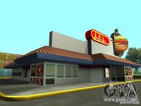 Mc Donalds for GTA San Andreas fifth screenshot
