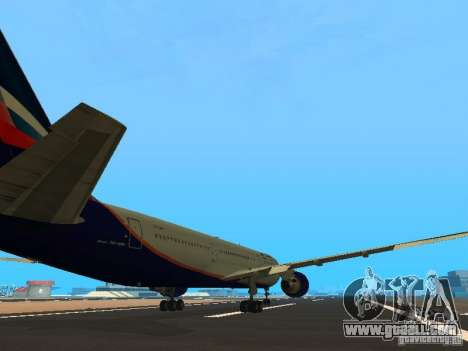 Boeing 767-300 Aeroflot for GTA San Andreas right view