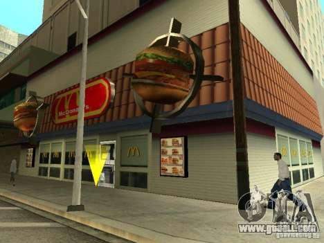 Mc Donalds for GTA San Andreas eighth screenshot