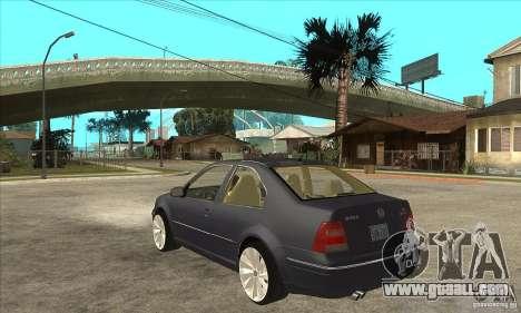 Volkswagen Bora VR6 4MOTION for GTA San Andreas back left view